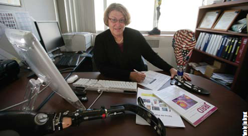 Gayle Reiber in her office