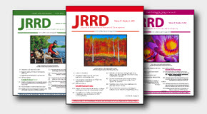 JRRD Current Issue Cover Images