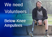 Volunteer request for VA study with older man with prosthetic leg